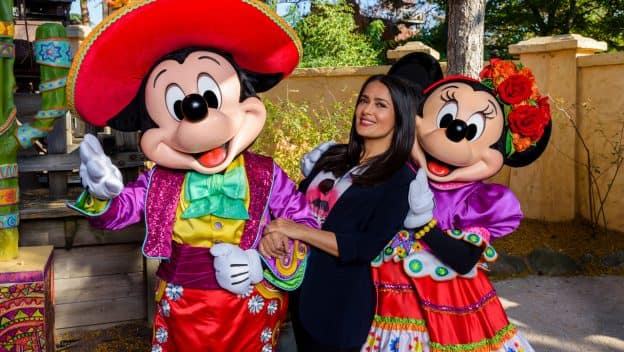 Salma Hayek at Disneyland Paris