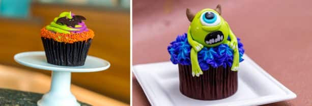 Halloween Cupcake and Monster's Inc. Cupcake at Epcot