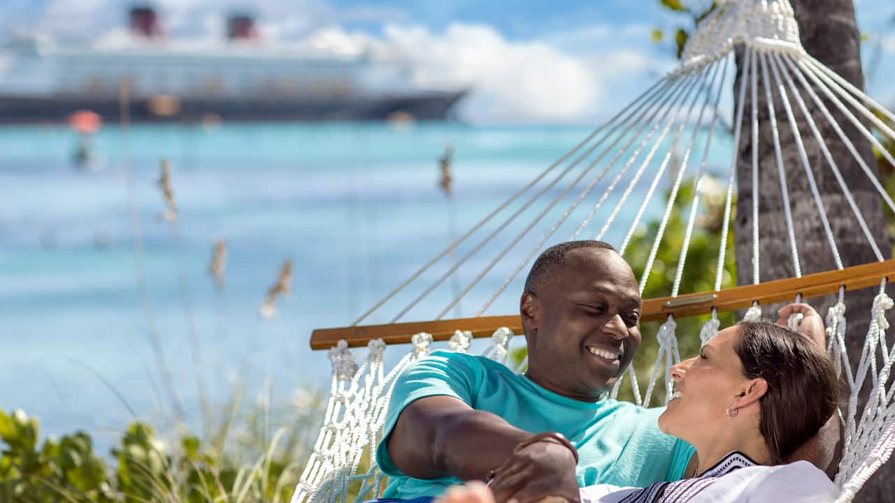 Couple on Hammock at Castaway Cay