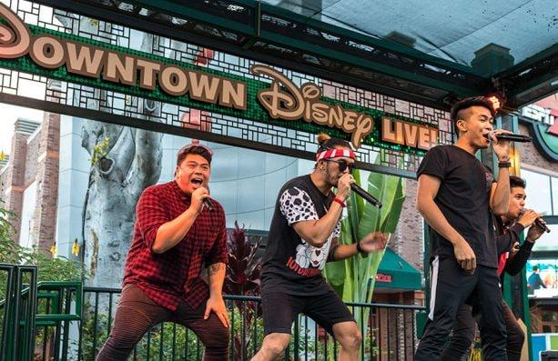 Nightly dancing at 6pm, Downtown Disney District, Disneyland Resort