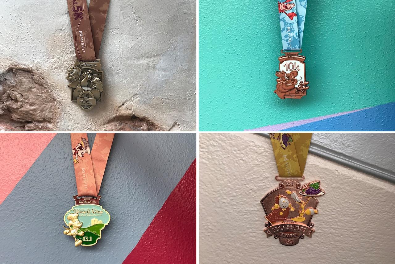 runDisney Medals at Epcot's 'Disney Walls'