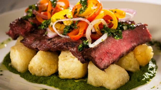 Skirt Steak Chimichurri at Sebastian's Bistro at Disney's Caribbean Beach Resort