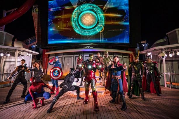 Captain Marvel and other Super Heroes Aboard Disney Cruise Line