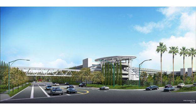 New Pedestrian Bridge Added to New Parking Structure at Disneyland Resort
