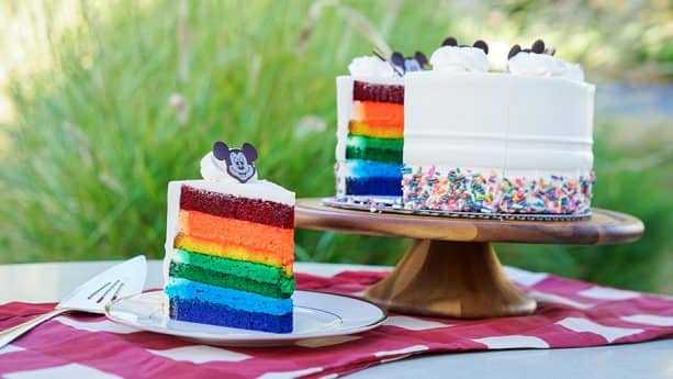 Rainbow Cake at Disneyland Resort
