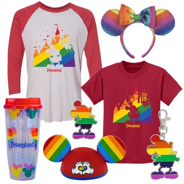 Rainbow Merch at Disneyland Resort