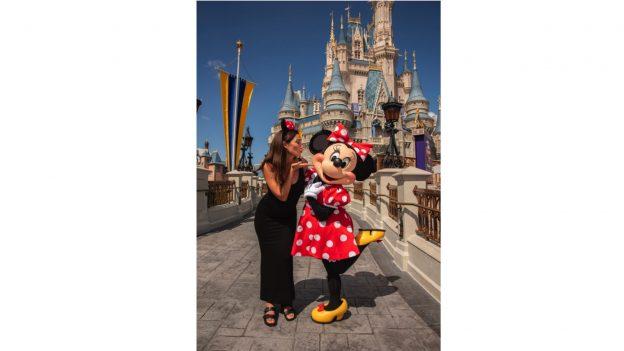 Model Lily Aldridge Visits Magic Kingdom Park