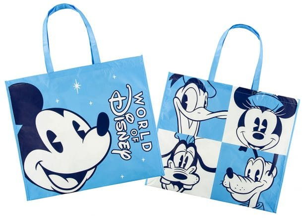 Reusable merchandise bags at World of Disney