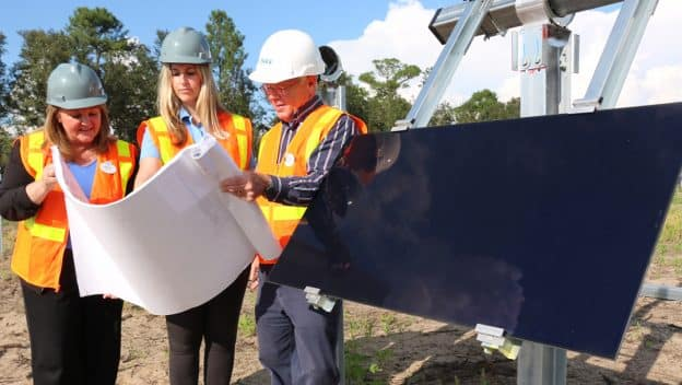 First panel installed at new solar facility providing power to Walt Disney World Resort