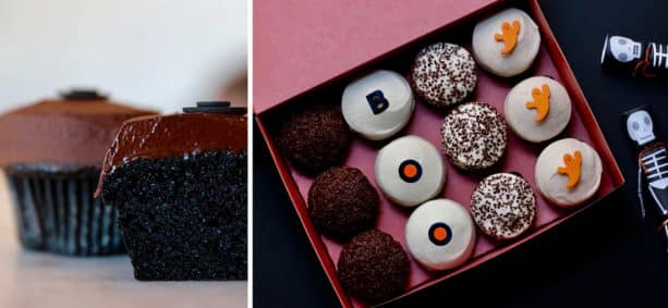 Black Velvet Cupcake and BOO Box at Sprinkles at Disney Springs