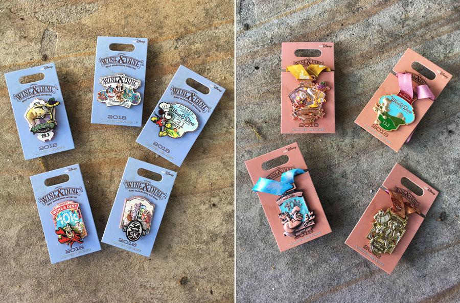 2018 Disney Wine & Dine Half Marathon Weekend Merchandise - Limited release Disney pins
