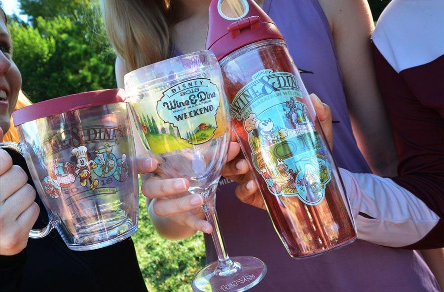 2018 Disney Wine & Dine Half Marathon Weekend Merchandise - TERVIS glassware