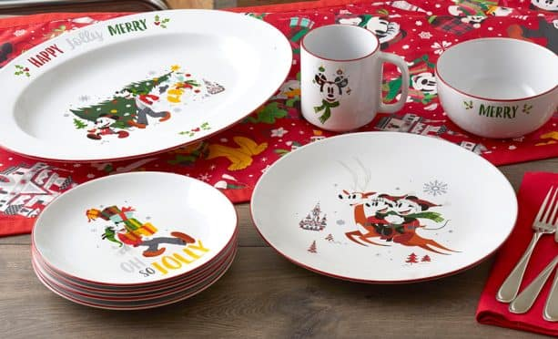 Disney Parks Holiday collection dinnerware
