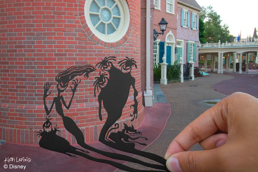 Sinister Shadows Silhouette at Magic Kingdom Park