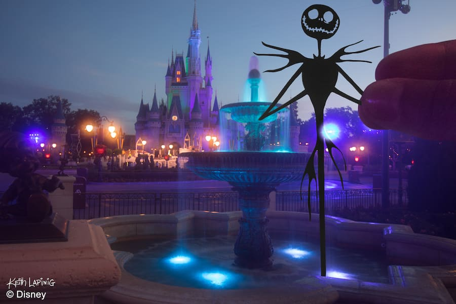 Jack Skellington Silhouette at Magic Kingdom Park