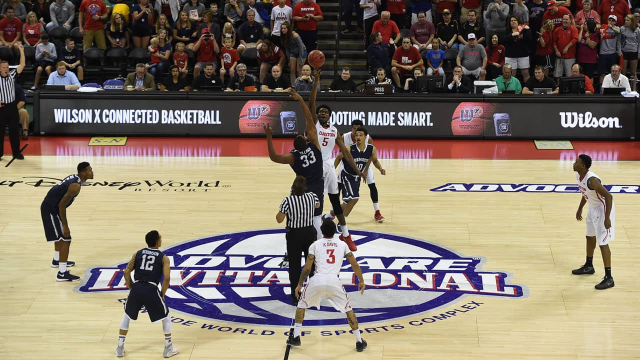 Premier Men's College Basketball Tournament Returns to Walt Disney World Resort Thanksgiving Weekend