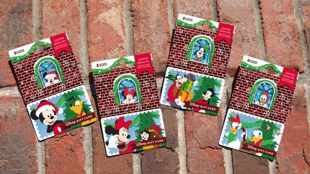 2018 Disney Gift Card Holiday Pin Series