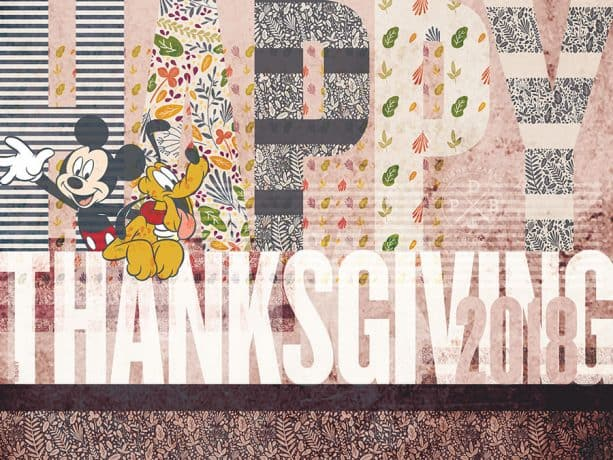 Disney Parks Blog Thanksgiving Wallpaper 2018