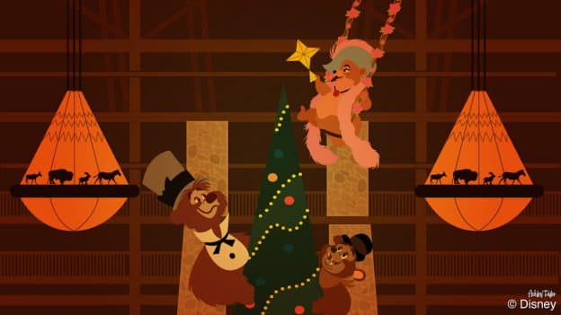 The Country Bears Get Into the Holiday Spirit