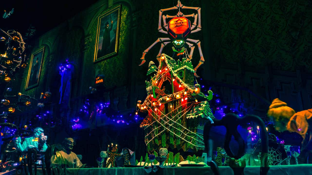 Haunted Mansion Holiday Gingerbread Display at Disneyland Park