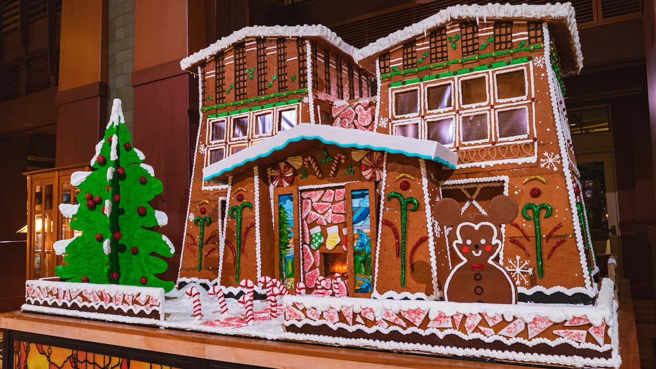 2018 Holiday Gingerbread Display at Disney's Grand Californian Hotel & Spa
