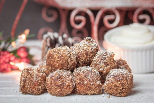 Gingerbread Churro Balls from 4 Rivers Cantina Barbacoa Food Truck at Disney Springs