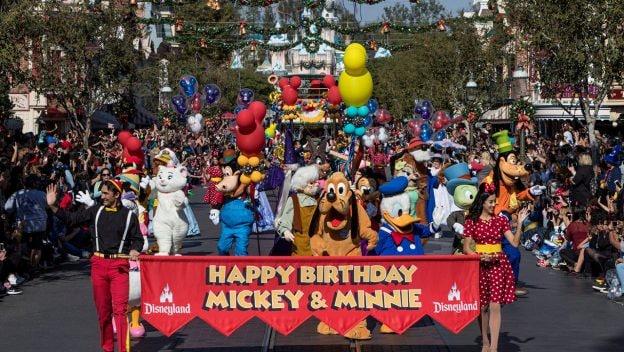 Celebrating Mickey's Birthday at Disneyland park