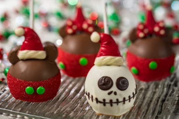 Holiday Candy Apples from Goofy's Candy Company and Disney's Candy Cauldron at Disney Springs