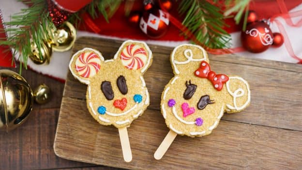 Gingerbread Mickey and Minnie Crispy Treats for Holidays at Disneyland Resort