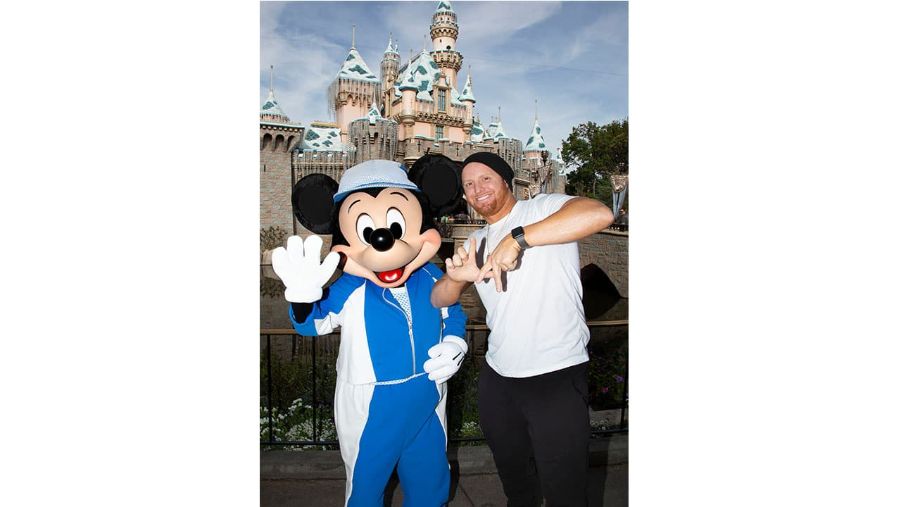 Los Angeles Dodger Justin Turner Finds Reasons to Celebrate at Disneyland Resort