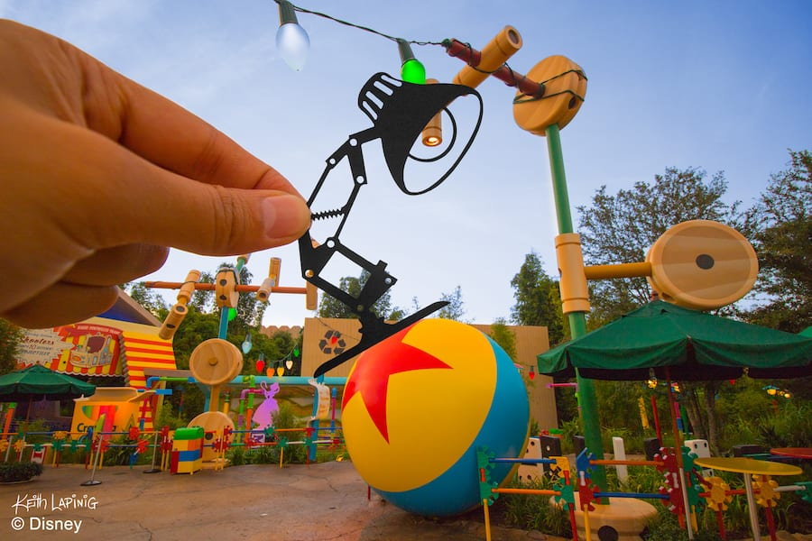 Disney Parks in Silhouette: Luxo Jr. Playing in Toy Story Land