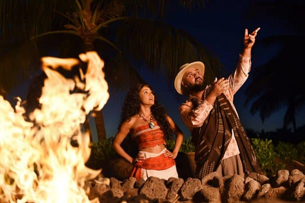 Moʻolelo Fire Pit Storytelling at Aulani Resort