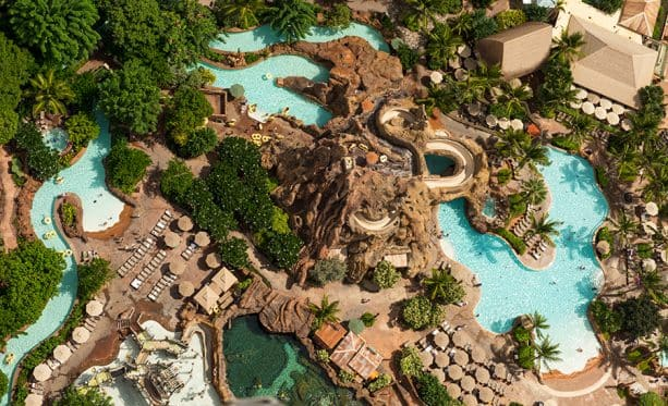 Themed pool at Aulani Resort