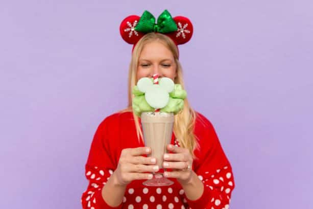 Christmas Cookie Milkshake at Auntie Gravity's Galactic Goodies for Mickey's Very Merry Christmas Party at Magic Kingdom Park