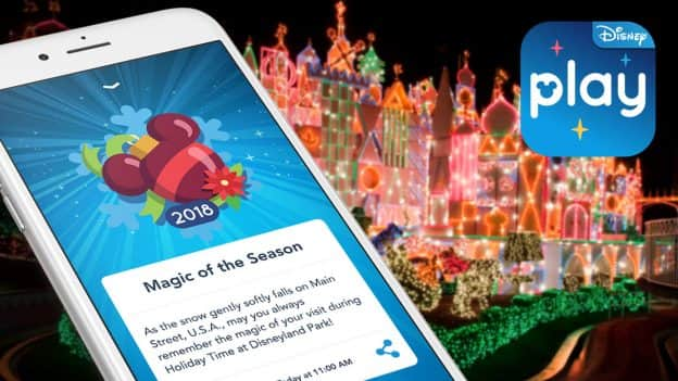 Holiday Fun in the Play Disney Parks mobile app
