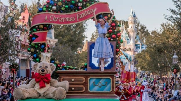 """""A Christmas Fantasy"""" Parade at Disneyland Park"