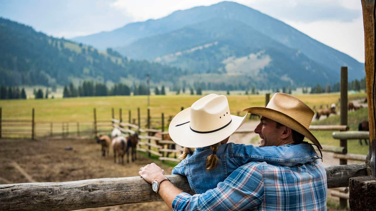 Family visits a ranch in Montana with Adventures by Disney