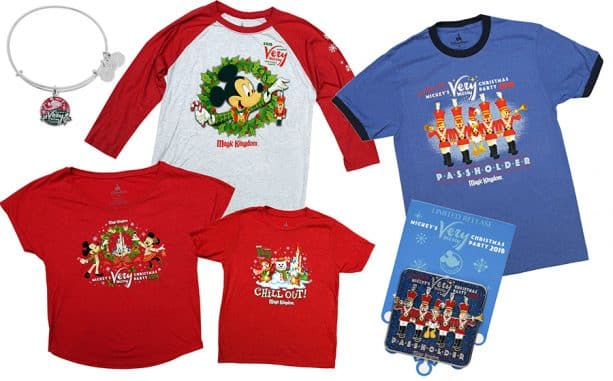 Merchandise from Mickey's Very Merry Christmas Party