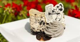 Steamboat Willie Cookies and Cream Cheesecake for Mickey's 90th Birthday at Magic Kingdom Park