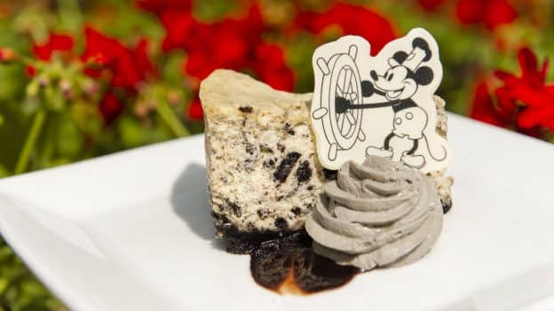 Steamboat Willie Cookies And Cream Cheesecake For Mickeys 90th Birthday At Magic Kingdom Park