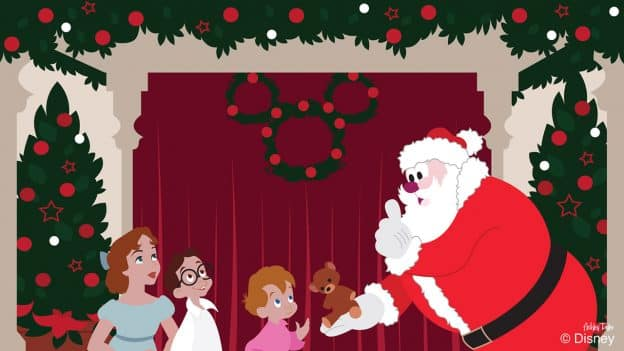 Disney Doodle: The Darling Children Visit With Santa Claus at Disney Springs