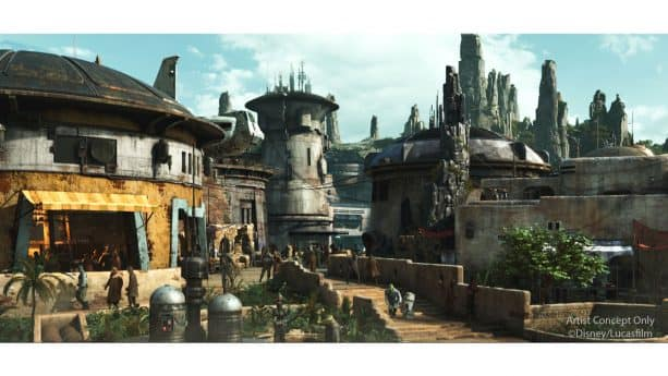 Artist Rendering of Star Wars: Galaxy's Edge