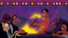 Disney Doodle: Lilo & Her 'Ohana Celebrate Thanksgiving at Disney's Polynesian Village Resort