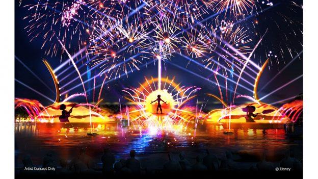 Artwork du nouveau spectacle nocturne du parc EPCOT annoncés qui remplacera IllumiNations.