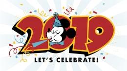 2019 New Year Mickey Wallpaper 1024x768