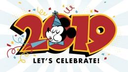 2019 New Year Mickey Wallpaper 640x1136