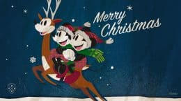 Mickey & Minnie Mouse 2018 Holiday Wallpaper 1366x768