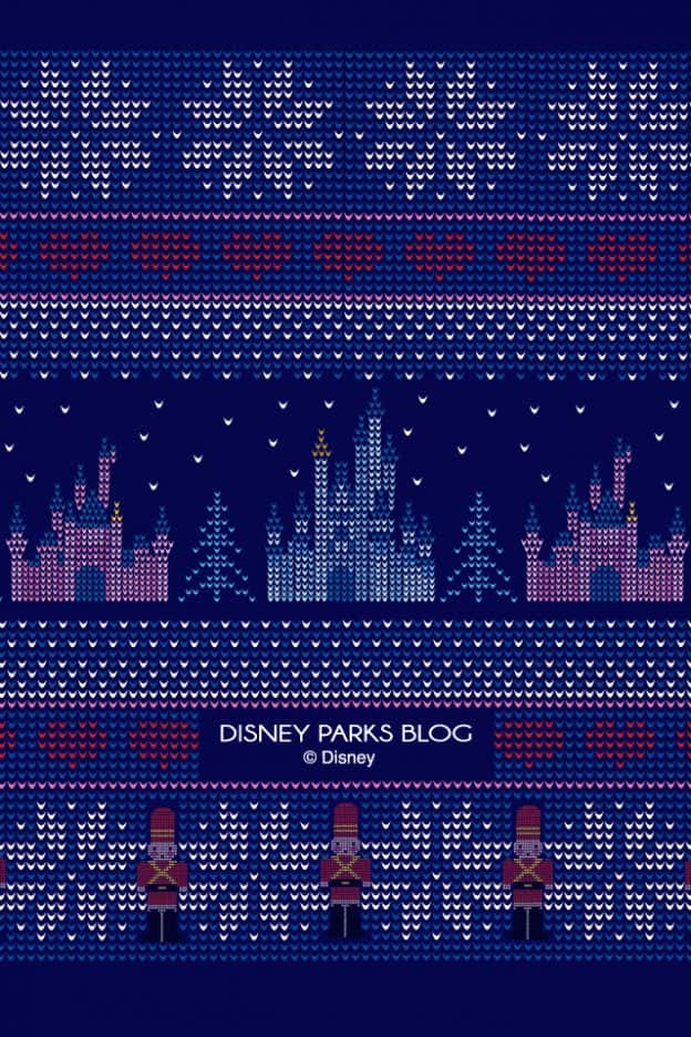 2018 Disney Parks-Inspired 'Christmas Sweater' Wallpaper – iPhone/Android