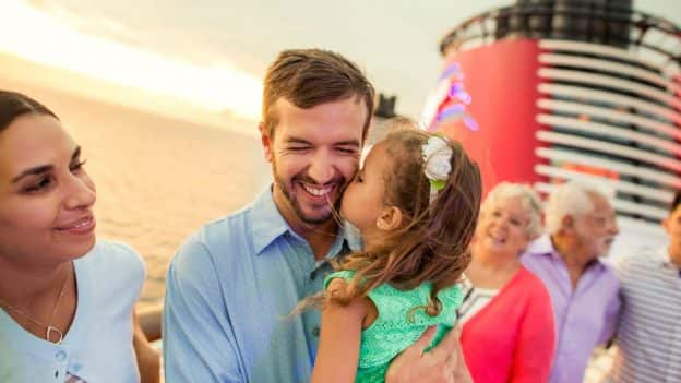 Family aboard Disney Cruise Line