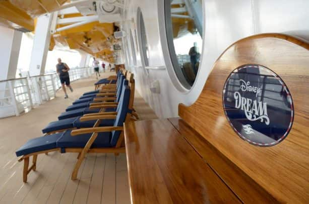 Disney Cruise Line - running on Deck 4